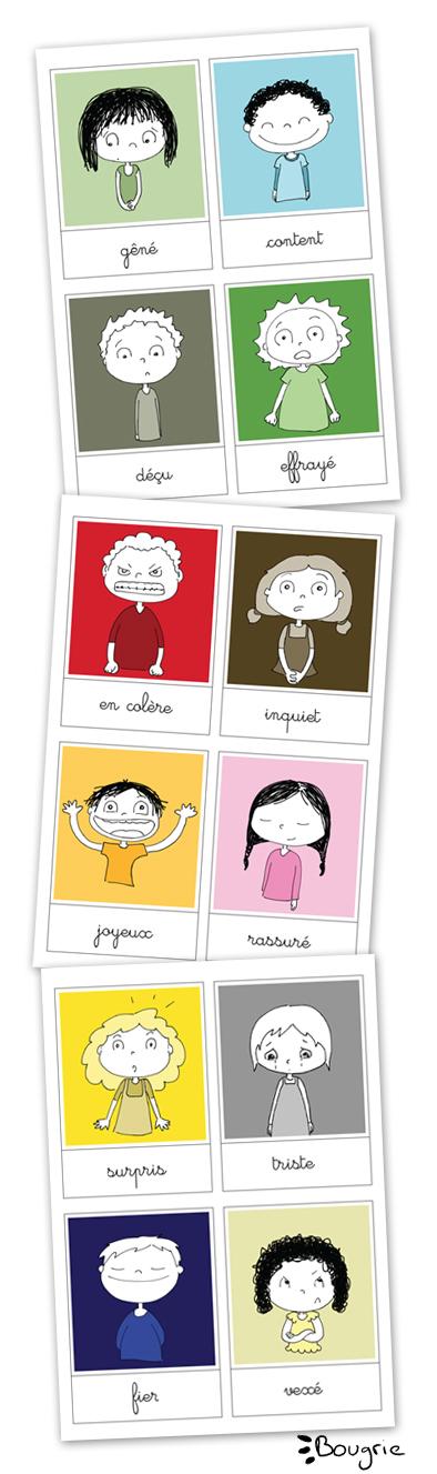cartes des émotions