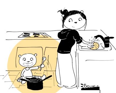 motricité libre cuisine