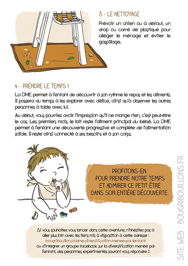 Affiche sur la diversification menée (dme) par l'enfant, ou diversification libre 6