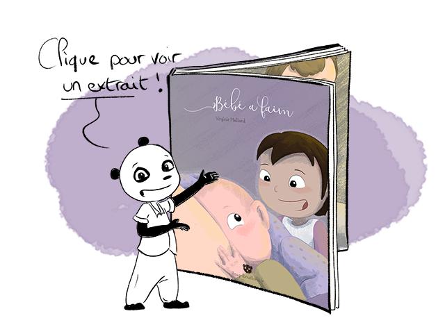 """Extrait du livre pour enfant sur l'allaitement """"Bébé a faim"""""""