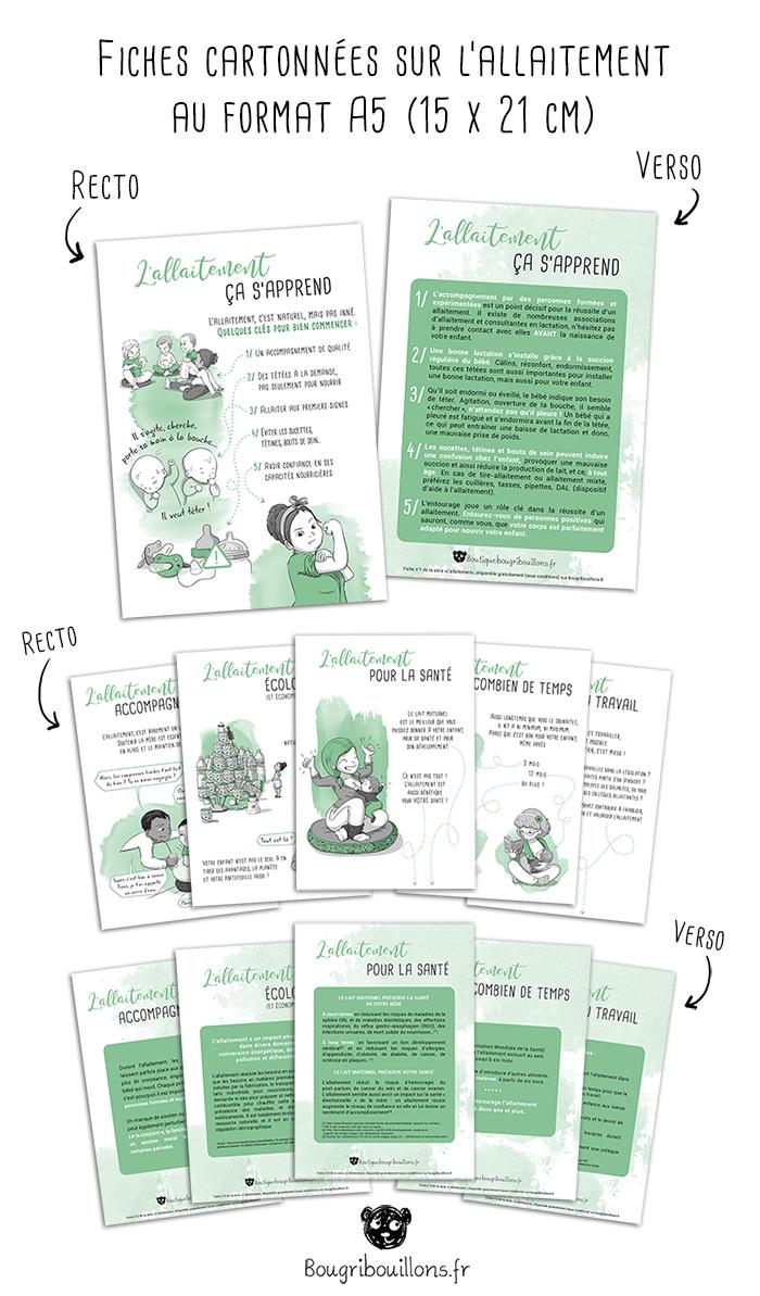 présentation cartes allaitement A5 Bougribouillons