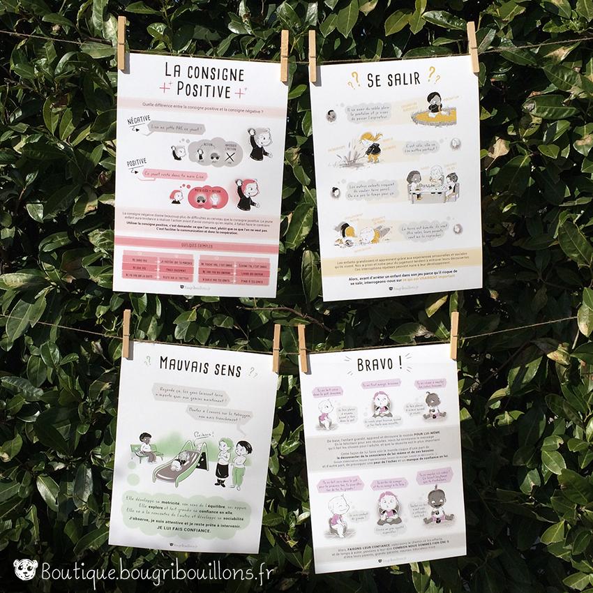 chroniques bougribouillons affiche imprimées petite enfance