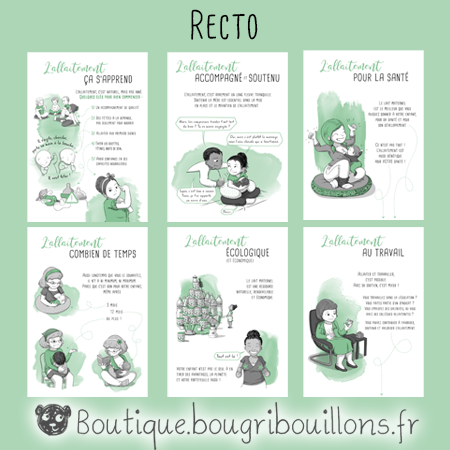 Les fiches A5 recto sur l'allaitement - Bougribouillons