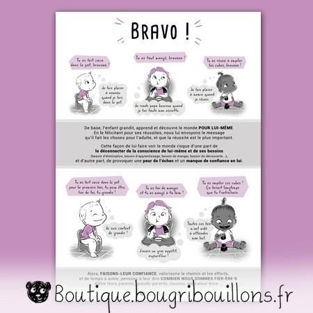 affiches petite enfance Bougribouillons - Bravo, compliments descriptifs et évaluatifs