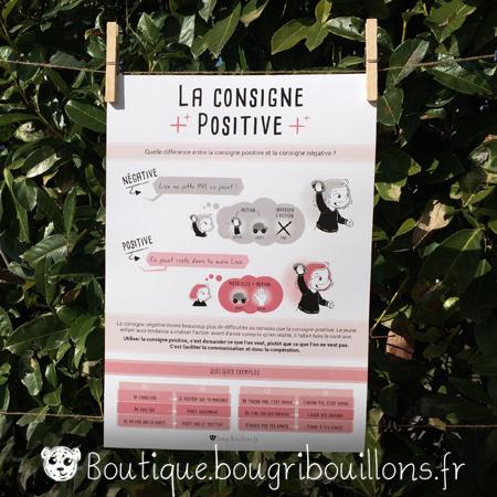 affiches petite enfance imprimée Bougribouillons - La consigne positive, éviter la négation