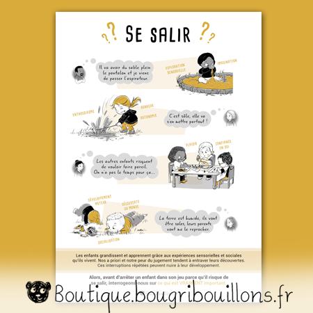 affiches petite enfance Bougribouillons - Laisser les enfants se salir et jouer librement