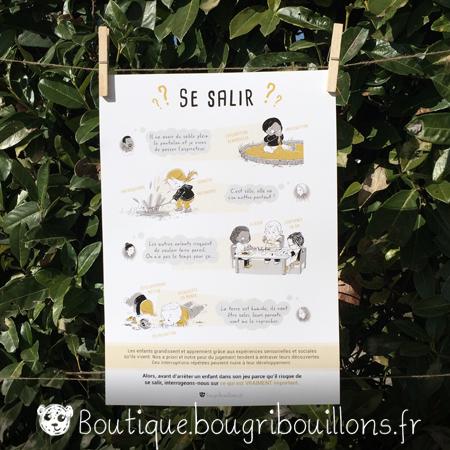 affiches petite enfance imprimée Bougribouillons - Laisser les enfants se salir et jouer librement