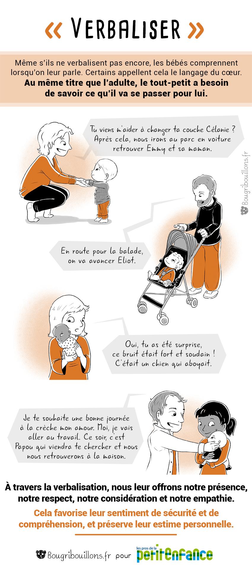 Verbaliser, parler à son bébé - chronique Bougribouillons