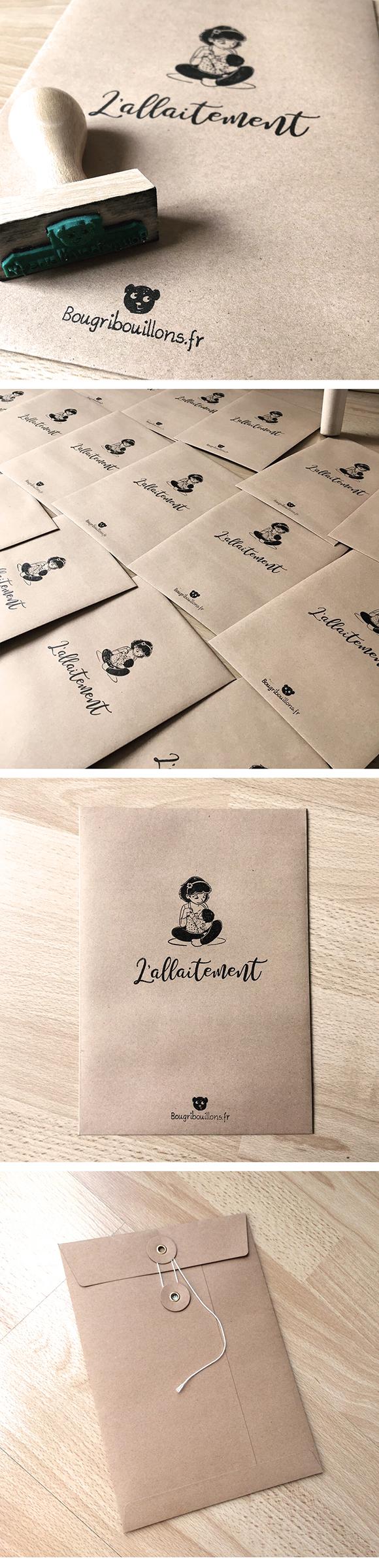 Enveloppe cartes A5 sur l'allaitement - Bougribouillons