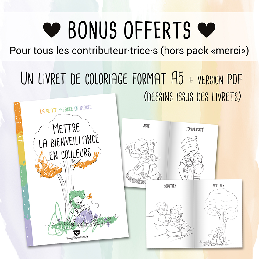 """Récap 4 de la campagne Ulule Bougribouillons - Livrets """"La petite enfance en images"""""""