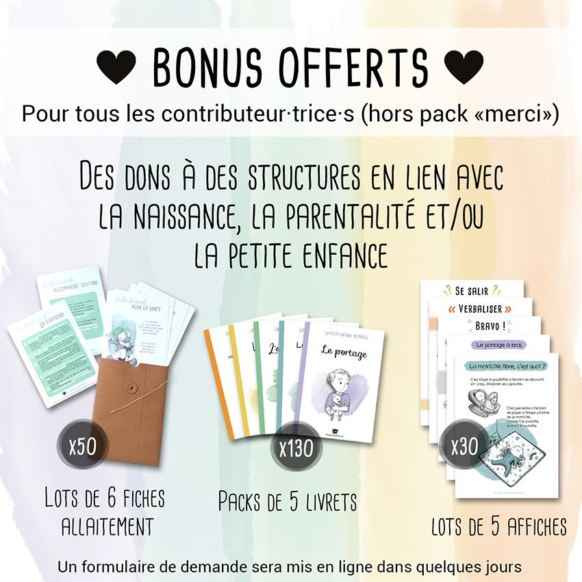 """Récap 6 de la campagne Ulule Bougribouillons - Livrets """"La petite enfance en images"""""""