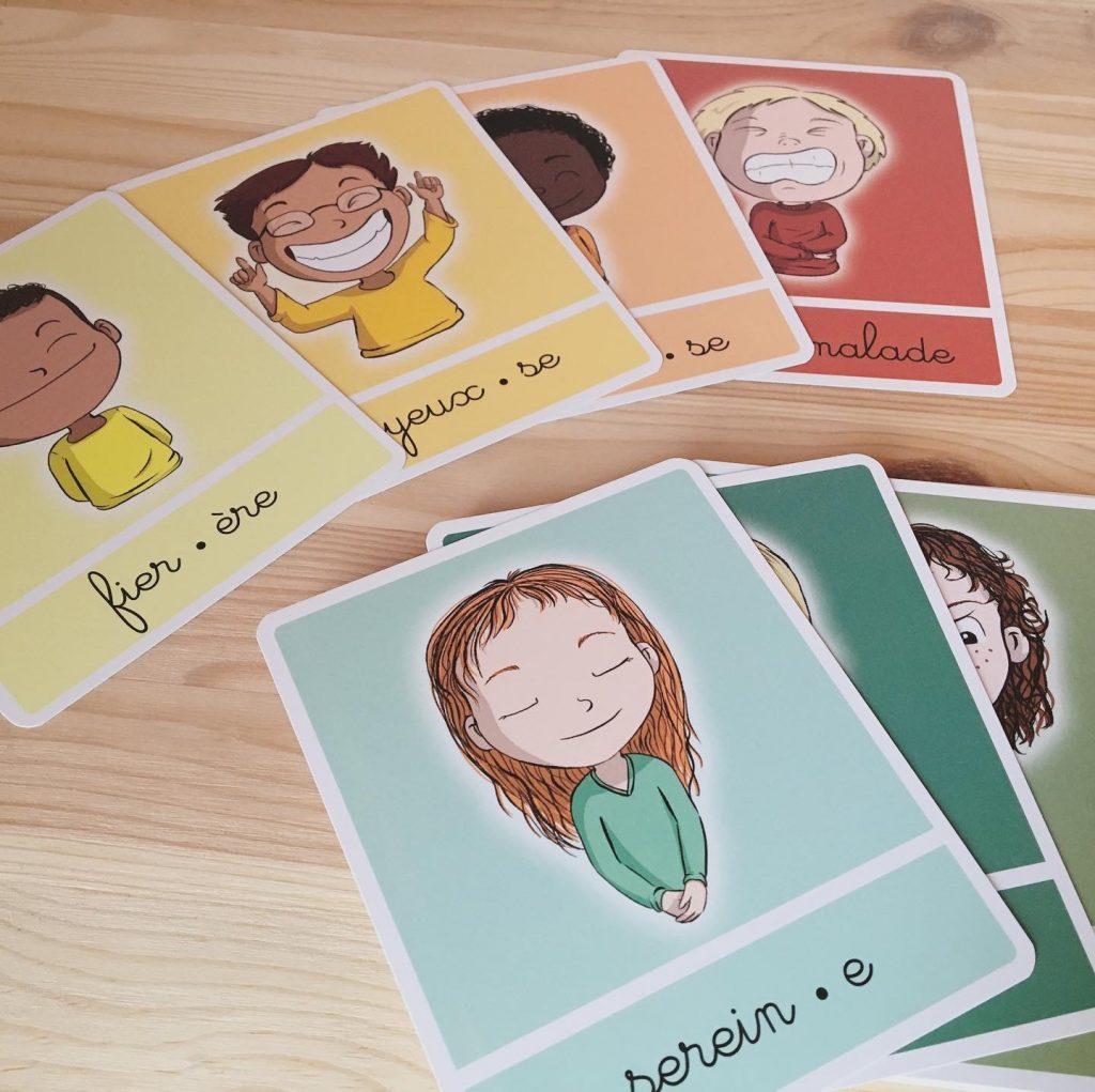 Cartes des émotions Bougribouillons