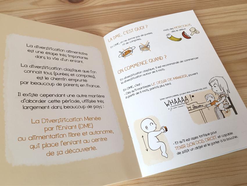 """Extrait du livret """"Diversification Menée par l'Enfant"""" de la collection """"La petite enfance en images"""""""
