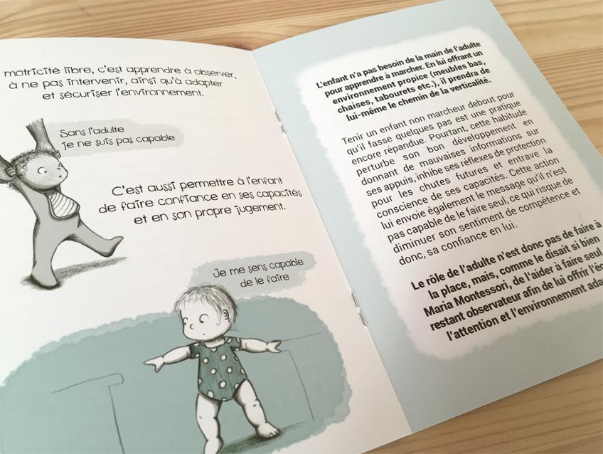 """Extrait du livret """"La motricité libre"""" de la collection """"La petite enfance en images"""""""