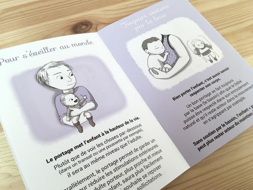 """Extrait du livret """"Le portage"""" de la collection """"La petite enfance en images"""""""